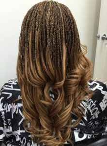 open micro braids soft curls