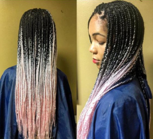 pink ombre individual braids