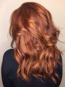 Fiery Copper Red Ombre Hair Color