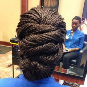 twisted micro braids updo