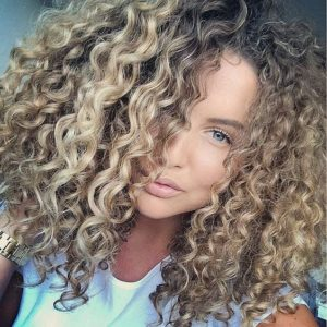 blonde spiral curls