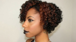 Middle Part Flat Twist Out