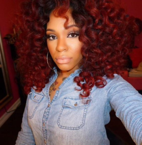 curly Red Crochet Braids