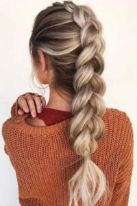 chunky french braid