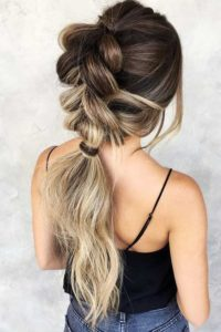 ombre bubble braid
