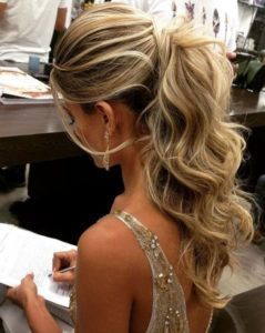 voluminous elegant ponytail