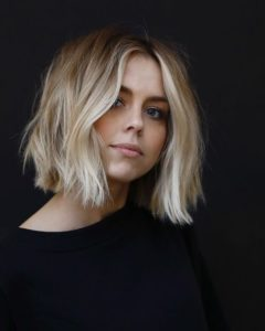 Blonde Waves bob hairstyle for thin hair