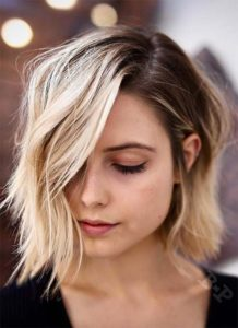 Angled Bob for thin fine hair