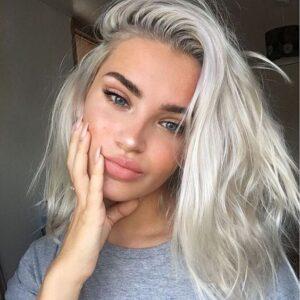 white silver blonde hair