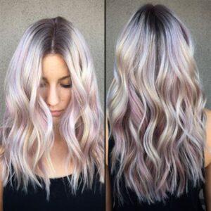 silver purple hair