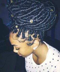 jumbo faux locs crown