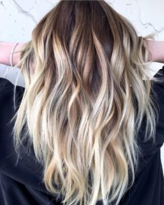 High Contrast Brown Blonde hair