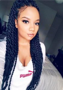 half up Senegalese twists
