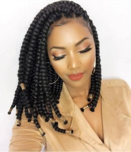 Shoulder length box braids