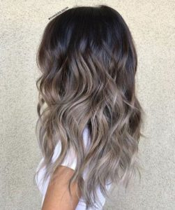 ash brown ombre