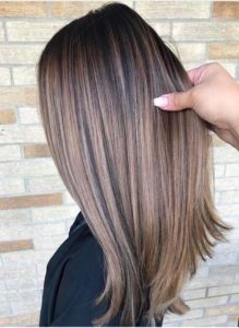 brown shades balayage