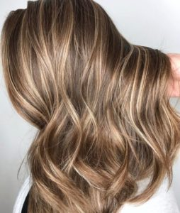 very light brown with blonde highlights