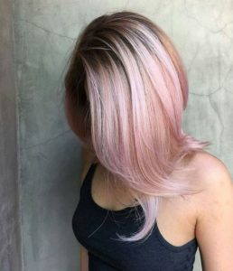 Flicked Our Hair with Pink Balayage