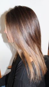 Chestnut Brown and Caramel Balayage