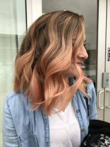 Ash Blonde to Blorange Ombre