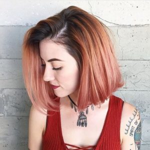 Peachy Asymmetric Bob