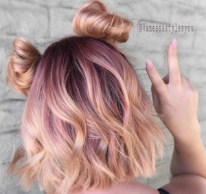 Lilac and Blorange Balayage