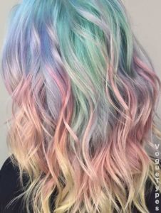 Multi-coloured Hair with Blorange Tips