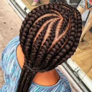 Chocolate brown lemonade braid