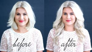 Short Hair Before and after extensions