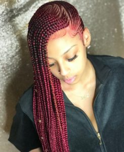 Full red lemonade braid