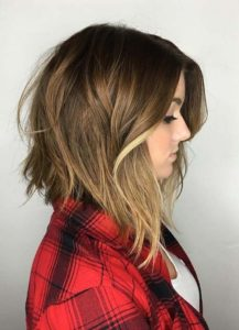 Graduated Bob with Balayage for Fine Hair
