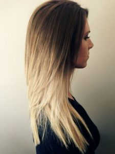 Long, Layered Ombre for Fine Hair