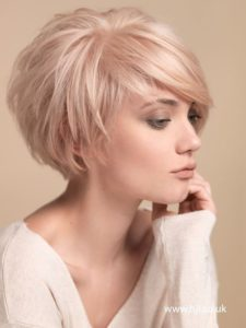 Pixie Cut with Side Swept Bangs for Fine Hair