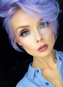 Perfect Purple Pixie Cut for Thin Hair