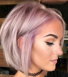 Short Pastel Bob for Thin Hair