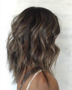 Wavy Lob for Fine Hair