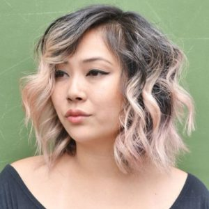 Messy Lob for Plus Size Women