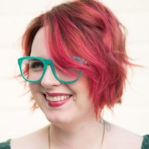 Shaggy Red Bob for Plus Size Women