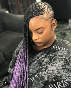 Lilac ombre lemonade braid