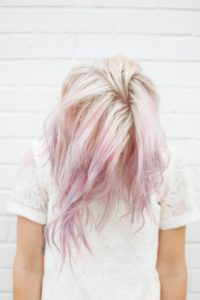 White Blonde to Blush Pink Ombre