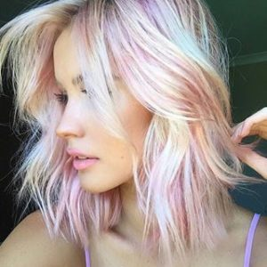 Bubblegum Pink and Blonde Hair