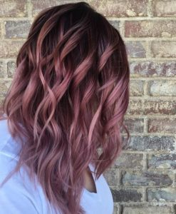 Ash Brown and Pink Highlights