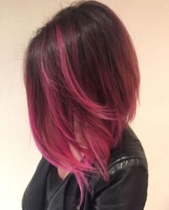 Fuchsia Pink Highlights