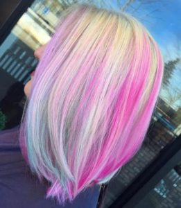 Hot Pink Choppy Highlights