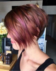 Pixie Cut with Pink Highlights