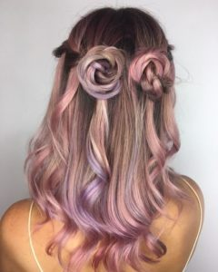Pink Hair Up-Do