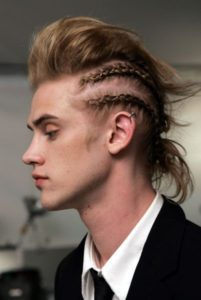 Punk Faux Hawk with Braids