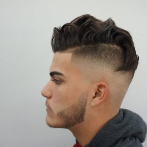Men's Punk Style for Wavy Hair