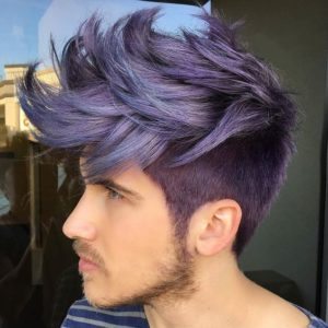 Purple Hair with Large Spikes