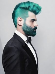 Sharp Teal Green Quiff